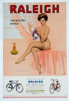Raleigh vintage Ad, REAL subtle..