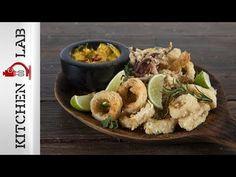 Καλαμαράκια τηγανητά Επ. 24   Kitchen Lab TV - YouTube Pancakes And Waffles, Fritters, Crepes, Japchae, Fish Recipes, Bon Appetit, Side Dishes, Cooking Recipes, Fish Food