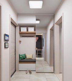 Home Hall Design, New Home Designs, House Design, Home Entrance Decor, House Entrance, Home Decor, Environmental Design, Apartment Design, Storage Spaces