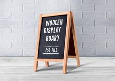 Wooden menu board PSD design to showcase your daily special food menu items for outdoor or indoor purpose. Highly useful for restaurant and hotel designs.