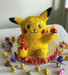 Pikachu buttercream cake
