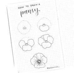 How to draw beautiful flower doodles in your bullet journal! These easy flower drawing tutorials will have you doodling flower patterns all over your bujo. Easy Flower Drawings, Flower Drawing Tutorials, Flower Sketches, Easy Drawings, Drawing Flowers, Painting Flowers, Bullet Journal Layout, Bullet Journal Inspiration, Sketch Journal