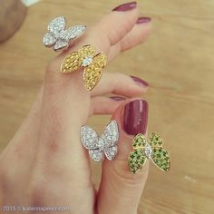 Spring is in the air... And the collection of Van Cleef&Arpels #butterfly…