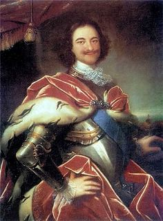 Peter I (Peter the Great of Russia) by Ivan Nikitin, 1717