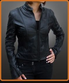 Because nothing is quite as bad-ass   as a fitted, sexy, leather jacket.