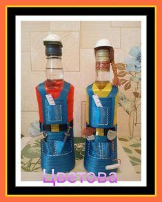 13 отметок «Нравится», 1 комментариев — Надюша Цветова (@tsvetovanadiusha) в Instagram: «На заказ ко дню строителя#дляЛидии#тзрволгоград ...» Diy Wine Glasses, Drink Bottles, Diy And Crafts, Bottles, Birthday, Decorate Bottles