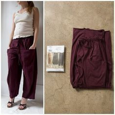 In their makeshift series, Alabama Chanin has step by step instructions for variations on my pattern, V8499. Included are instructions to follow. http://journal.alabamachanin.com/2015/05/diy-pants-vogue-pattern-v8499/