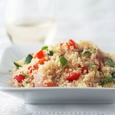 Lemon Veggie Couscous, #Citrus, #Couscous, #Lemon, #Peppers, #Roasted, #Veggie, #Zesty