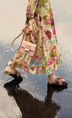 TWINSET, Fall Winter Accessories Collection: shoes, bags, slippers, long dress