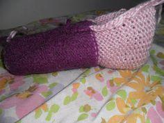 pantoufle au tricotin géant semi-automatique