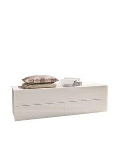 Enea comò a 4 cassetti. #white #black #brown #bontempiletti #design #home #living #decor #bedroom