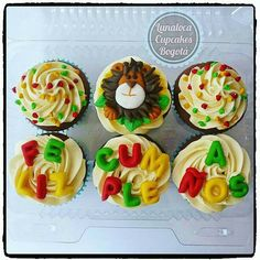 Cupcakes Cumpleaños León Rasta