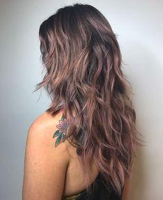 50 Latest Shag Haircut Variations Trendy in 2020 - Hair Adviser - Long Shag Haircut with Purple Balayage - Curly Shag Haircut, Long Shag Hairstyles, Modern Shag Haircut, Medium Shag Haircuts, Long Layered Haircuts, Haircuts For Long Hair, Feathered Hairstyles, Long Hair Cuts, Shaggy Layered Haircut