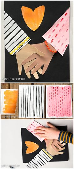 Friendship Collage Kids Art Project #kidsart #kidscrafts #papercraft #papercrafting