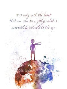 Der kleine Prinz zitieren KUNSTDRUCK Abbildung Le von SubjectArt