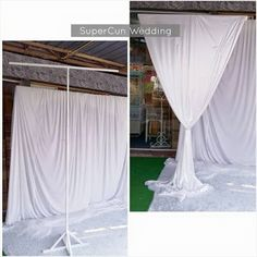 Jackstand T pelamin untuk disewa - SuperCun Wedding Diy Backdrop Stand, Backdrop Frame, Diy Wedding Backdrop, Photo Booth Backdrop, Wedding Decorations, Wedding Ideas, Deco Ballon, Decoration Evenementielle, Pipe And Drape