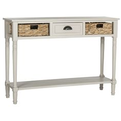 Safavieh Christa Vintage Grey Console Storage Table | Overstock.com Shopping - The Best Deals on Coffee, Sofa & End Tables