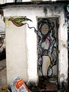 Street art | Mural (São Paulo, Brazil) by Sinhá with the collaboration of Magrela