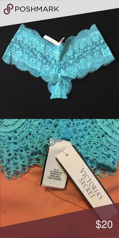 VS Crochet Lace Sexy Shortie Victoria secret underwear. Cute lace design. Light blue Victoria's Secret Intimates & Sleepwear Panties