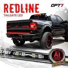 Redline LED Tailgate Light Bar Ram Trucks, Cool Trucks, Chevy Trucks, Pickup Trucks, Lifted Trucks, Cool Gadgets To Buy, Car Gadgets, Led Tailgate Light Bar, Cool Truck Accessories