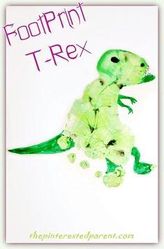 Footprint T-Rex - tyranosaurus rex craft