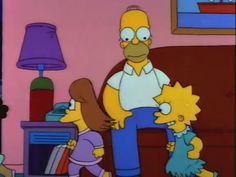 The Girls chase Bart while Homer sit on the couch