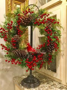 Christmas Arrangements, Christmas Centerpieces, Xmas Decorations, Christmas Door, Rustic Christmas, Christmas Ornaments, Holiday Wreaths, Holiday Crafts, Holiday Decor