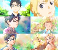 Your Lie in April- I really like this anime. A lot. ♡ Yes my life was far more colorful, thanks to you <3