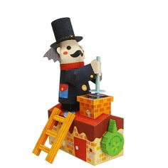 Canon Papercraft - Movable Chimney Sweep Free Paper Toy Download | PaperCraftSquare.com
