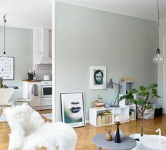Grey walls for the win - via Coco Lapine Design