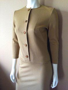 Vintage Apparel Women's 60's Mod Dress Tan Long by Freshandswanky