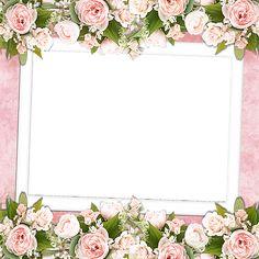 Pink Tansparent Frame wit Pink Roses