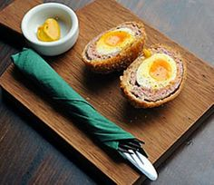 Best pub snacks in London - Evening Standard. Links to descriptions of pub foods and who has the best. But: 2009. Gah the scotch eggs look great.