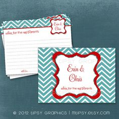 Fancy Chevron Advice & Well Wishes for MOM / BRIDE / by MTipsy, $14.00