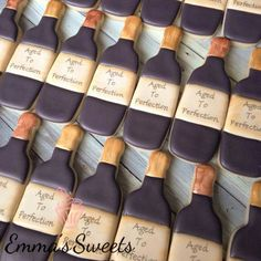 Emma's Sweets: aged wine bottles