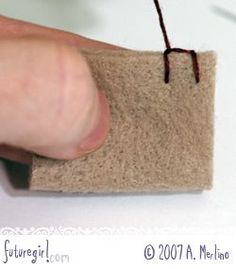 Tutorial: Hand Sew Felt Using Blanket Stitch. Also, how to start the blanket stitch so that the first stitch stays vertical.