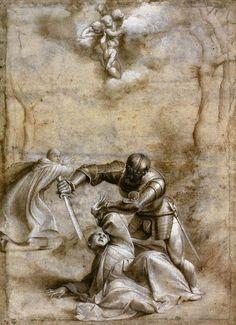 Il Pordenone, Martirio di San Pietro, tra il 1526 e il 1528.  Galleria degli Uffizi