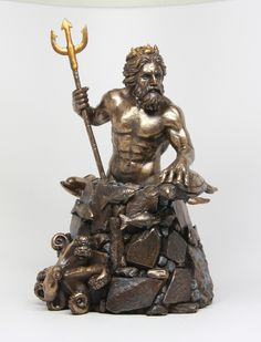 Wicca God Goddess Statues | ... POSIDON NEPTUNE GOD OF THE SEA ROMAN GREEK MYTHOLOGY FIGURINE STATUE
