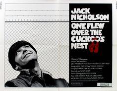 One Flew Over the Cuckoo's Nest £375.00 Original vintage US half sheet movie…