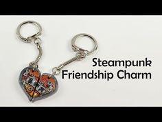 ▶ Steampunk Friendship Heart Charm(s) - polymer clay TUTORIAL - YouTube