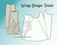 Studio Faro Wrap Drape Tunic, pattern puzzle by susanna i need some time to understand this but its awesome Pattern Puzzle - Wrap Drape Tunic I love these women's tunic sewing patterns. Here's a great collection of tunic sewing patterns - from boho to fit Tunic Sewing Patterns, Tunic Pattern, Clothing Patterns, Dress Patterns, Plus Size Sewing Patterns, Shirt Patterns, Jumpsuit Pattern, Pdf Patterns, Pants Pattern