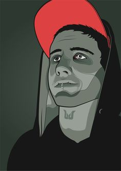 Self Portrait by Fabe Reinhardt, via Behance
