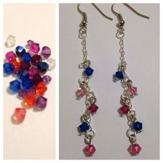 Colorful Crystal Dangles  on Etsy, $12.00