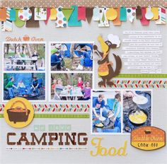 Lots of photos on one layout topped with banner