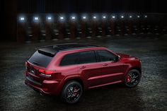 The new #Jeep Grand Cherokee #SRT Night is designed to have a stealthy, dark and sinister appearance. The most powerful model in the Jeep lineup is not afraid to show off its muscles through its standard 6.4-liter HEMI V-8. The naturally-aspirated engine sends a total of 475 #horsepower and 470 lb-ft. of torque to all four of the custom wheels. www.wheelhero.com