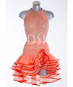 Different Neckline idea? 393513 Coral Latin Dress