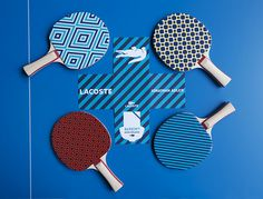 LACOSTE celebrated its Holiday Collector's Series collaboration with Jonathan Adler with an exclusive event inside the beautiful Petit Palais in Paris. Lacoste Store, Table Tennis Bats, The Sporting Life, Ping Pong Paddles, Jonathan Adler, Wood Patterns, Birthdays, Paris, Cool Stuff