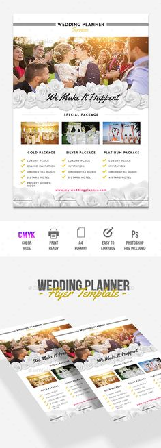 Wedding Planner — Photoshop PSD #wedding organizer #shoot • Available here → https://graphicriver.net/item/wedding-planner/17956336?ref=pxcr