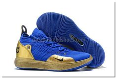 6b8109d04a4 Purchase Nike KD 11 Blue Gold Shoes For Sale At Our Outlet Store