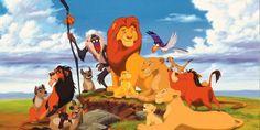 Il Re Leone colora gli allegri personaggi